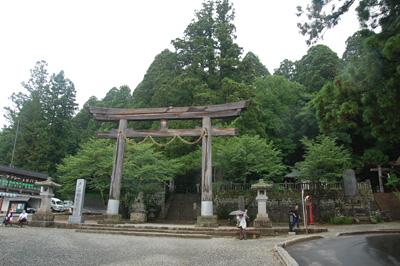 戸隠神社遠景
