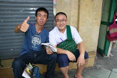 カオサンにいた韓国人