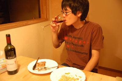 ワインを飲むづや