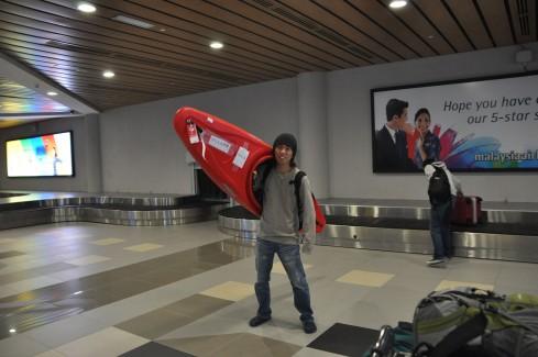 コタキナバル空港にて